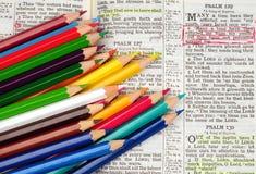 Estudio de la biblia Foto de archivo libre de regalías