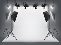 Estudio de la fotograf?a E r ilustración del vector