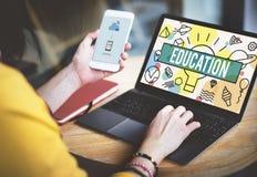 Estudio de la penetración de la educación que aprende concepto de la escuela de la universidad foto de archivo libre de regalías