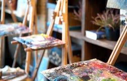 Estudio de la pintura Foto de archivo