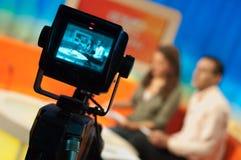 Estudio de la televisión Foto de archivo libre de regalías
