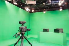 Estudio de la televisión imagen de archivo libre de regalías