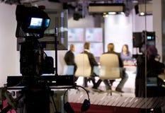 Estudio de la TV Fotografía de archivo