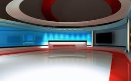 Estudio de la TV Estudio de las noticias, sistema del estudio Imagenes de archivo