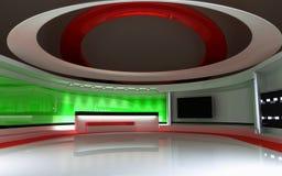 Estudio de la TV Estudio de las noticias, sistema del estudio Foto de archivo