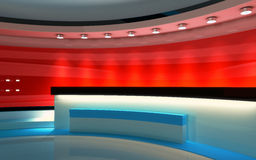 Estudio de la TV Estudio de las noticias, sistema del estudio Fotografía de archivo