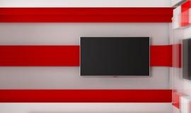 Estudio de la TV TV en la pared Estudio de las noticias Contexto para las showes televisivo Imágenes de archivo libres de regalías