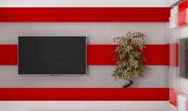 Estudio de la TV TV en la pared Estudio de las noticias Contexto para las showes televisivo Fotos de archivo libres de regalías
