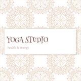 Estudio de la yoga ilustración del vector
