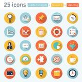 ESTUDIO DE MERCADO. iconos planos del app. ilustración del vector