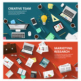 Estudio de mercados y concepto creativo del equipo Fotos de archivo libres de regalías