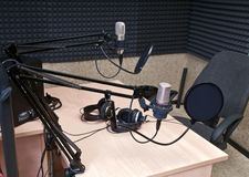 estudio de radio fotografía de archivo libre de regalías