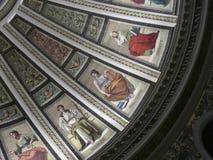 Estudio del arte de los retratos del fresco de Edimburgo Escocia del pasillo de Mcewan del estudio foto de archivo