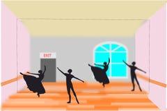 Estudio del ballet ilustración del vector