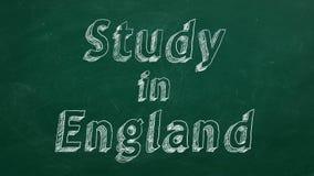 Estudio en Inglaterra ilustración del vector