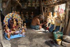 Estudio en Kumartuli imagen de archivo libre de regalías