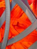 Estudio en naranja y metal Imagen de archivo