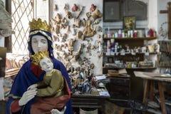 Estudio, esculturas y estatuas del artista foto de archivo