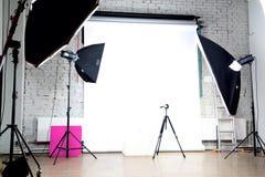 Estudio moderno de la foto Fotografía de archivo