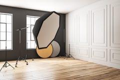 Estudio moderno de la foto ilustración del vector