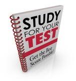 Estudio para su examen del concurso de la cuenta del grado del título de cubierta de libro de la prueba mejor Fotografía de archivo
