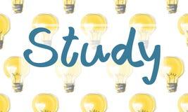 Estudio que aprende concepto del Academic de la educación Imágenes de archivo libres de regalías