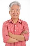 Estudio tirado de hombre mayor chino Imágenes de archivo libres de regalías