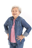 Estudio tirado de mujer mayor china Imagen de archivo libre de regalías