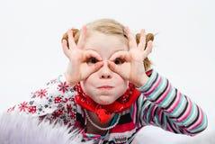 Estudio tirado de niña bonita Imagen de archivo libre de regalías