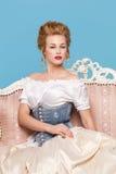 Estudio tirado en el estilo de Marie Antoinette Imagen de archivo