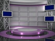 Estudio TV Imágenes de archivo libres de regalías