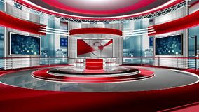 Estudio virtual vivo almacen de metraje de vídeo