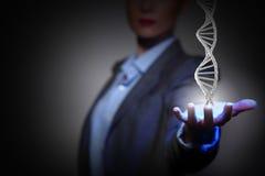 Estudio y exploración de la bioquímica Técnicas mixtas fotos de archivo