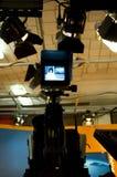 Estudio y luces de la TV foto de archivo