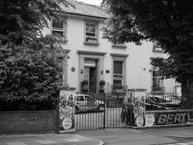 Estudios de Abbey Road en Londres blanco y negro Foto de archivo libre de regalías