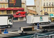 Estudios de París - de Disney, salto del coche del truco Foto de archivo