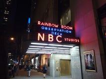 Estudios del NBC, sitio del arco iris, plataforma de observación, plaza de 30 Rockefeller, NYC, los E.E.U.U. Foto de archivo libre de regalías