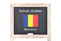 Estudios sociales con la bandera a bordo Imagen de archivo