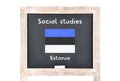 Estudios sociales con la bandera a bordo Foto de archivo