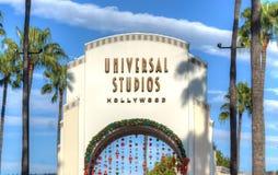 Estudios universales de la entrada de Hollywood fotos de archivo