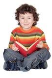 Estudo adorável do menino Fotografia de Stock