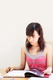 Estudo asiático do estudante Fotografia de Stock Royalty Free