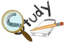 Estudo com notas Imagem de Stock