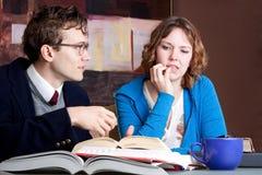 Estudo confuso do estudante Imagens de Stock Royalty Free