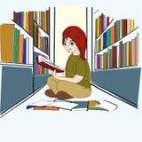 Estudo da biblioteca Fotografia de Stock Royalty Free