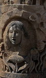 Estudo da escultura de pedra facial exterior Fotos de Stock