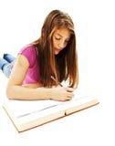 Estudo da menina de faculdade imagem de stock