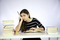 Estudo da menina infeliz e deprimido Imagem de Stock