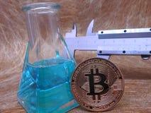 Estudo de Bitcoin fotografia de stock royalty free