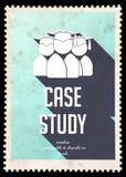 Estudo de caso na luz - azul no projeto liso. ilustração do vetor